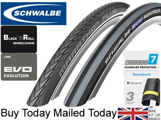 Schwalbe Marathon Plus Evo SmartGuard Black/'n Roll Rigid Wheelchair Tyre 24 x 1