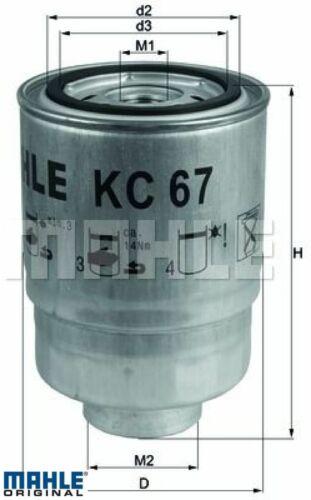 Mahle original kc67 Filtro de combustible Gasolina