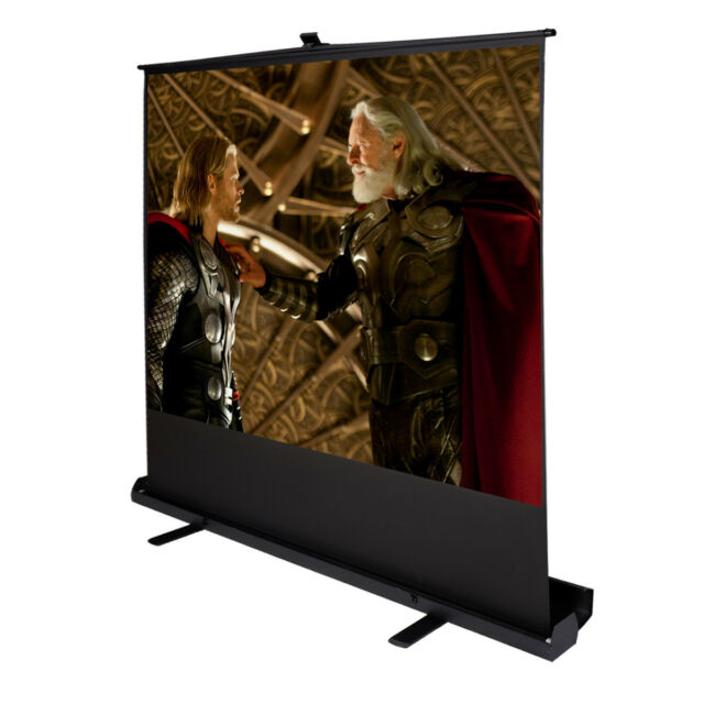"""80"""" Inch 4:3 Portable Pull Up Floor Projector Projection Screen w/Aluminium Case"""