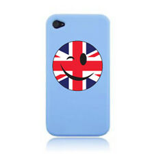 WINKING SMILEY FACE UNION JACK FLAG iPHONE CASE COVER STICKER ON A 3G, 4S AND 5