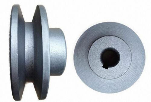 "OD 40 to 100mm V-Groove Pulley for 3//8/"" = 9.525mm Belt width Select Size"
