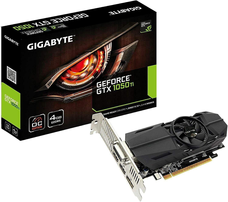 Gigabyte Geforce GTX 1050 Ti OC 4GB GDDR5 Graphic Card GV-N105TOC-4GL