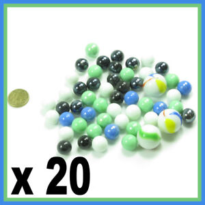 20-SOLID-COLOUR-SMALL-PLAYING-MARBLES-Mixed-colour-BLUE-WHITE-BLACK-GREEN