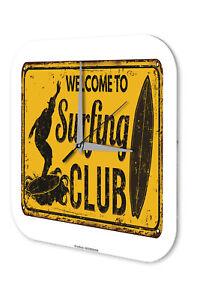 Streng Wanduhr Retro Wand Deko Surf Club Acryl Dekouhr Nostalgie Dekoration Weitere Uhren