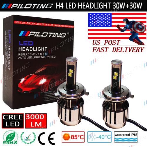 PILOTING H4 9003 LED Headlight Conversion Kit 80W CREE LED Light 6000K US POST