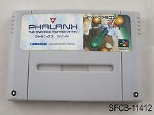 Phalanx Super Famicom Japanese Import SFC SNES Nintendo US Seller B