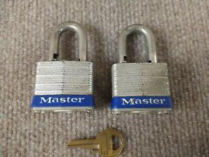 2-Same-Key-Master-Lock-Padlock-Set