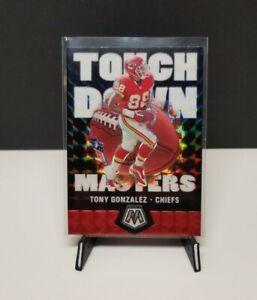 Tony Gonzalez 2020 Mosaic Touchdown Masters Silver Prizm SP Kansas City Chiefs