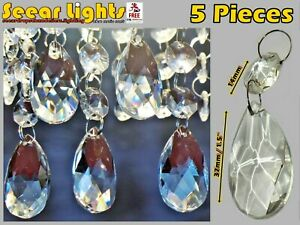 2 SIZES CUT GLASS CRYSTALS CHANDELIER DROPLETS ORBS ANTIQUE QUALITY DROPS BEADS
