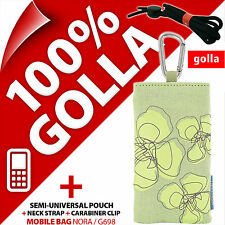 New Golla Brown Green Case Cover Pouch Bag +Zipped Pocket For Candy Bar Phones