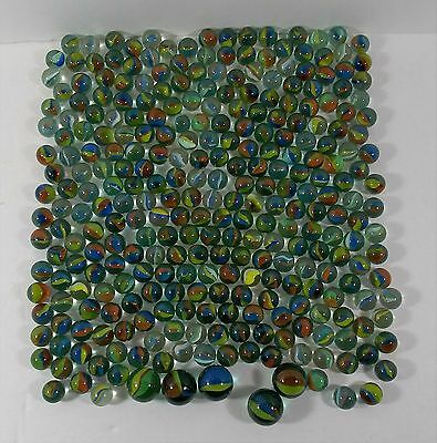 cats eye glass marbles vintage lot.90 total