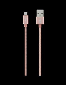 Goji-glnrse-17-C-Plat-1-m-USB-Lightning-connexion-Sync-amp-Charge-Cable-or-rose
