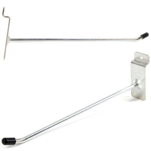 """SLATBOARD WALL HOOKS 200mm 8/"""" Steel HEAVY DUTY Retail Shop Hanger Fitting Slat"""
