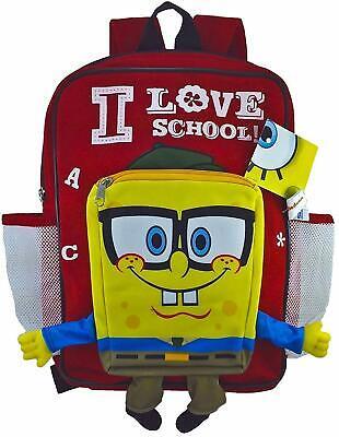 "Spongebob Squarepants Plush Doll Toys School Backpack Book Bag Travel Bag 12/"""