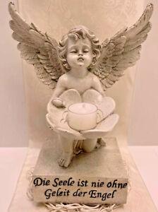 Grabengel-Engel-a-Fuss-Schutzengel-Grabschmuck-25x20cm-Trauer-Deko-Figur-NEU