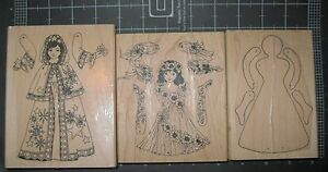 Rubber Stamp Lot 3 Spring Dancing Fairy Winter Dancing Fairy by Limited Edition