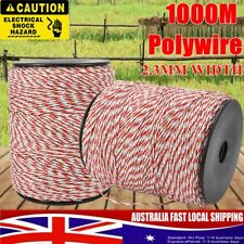 400m Roll Electric Fence Grunt Tape 12mm Polywire Poly Wire Highly Conductive Fencing Business & Industrial