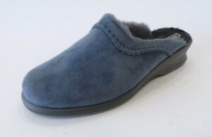 Rohde-Hausschuhe-Pantoffel-2510-82-grau-anthrazit-Lammfell-warm-Textil-Velour