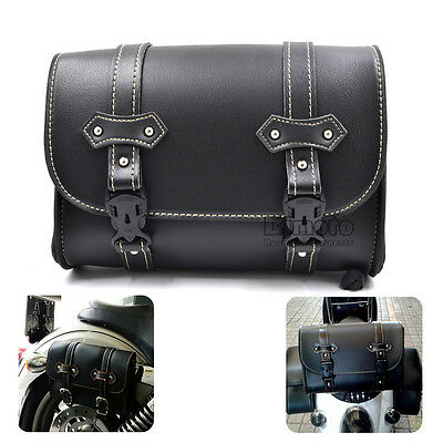 Universal Motorcycle Motorbike Side Storage Saddle Luggage Bag Pouch For Harley