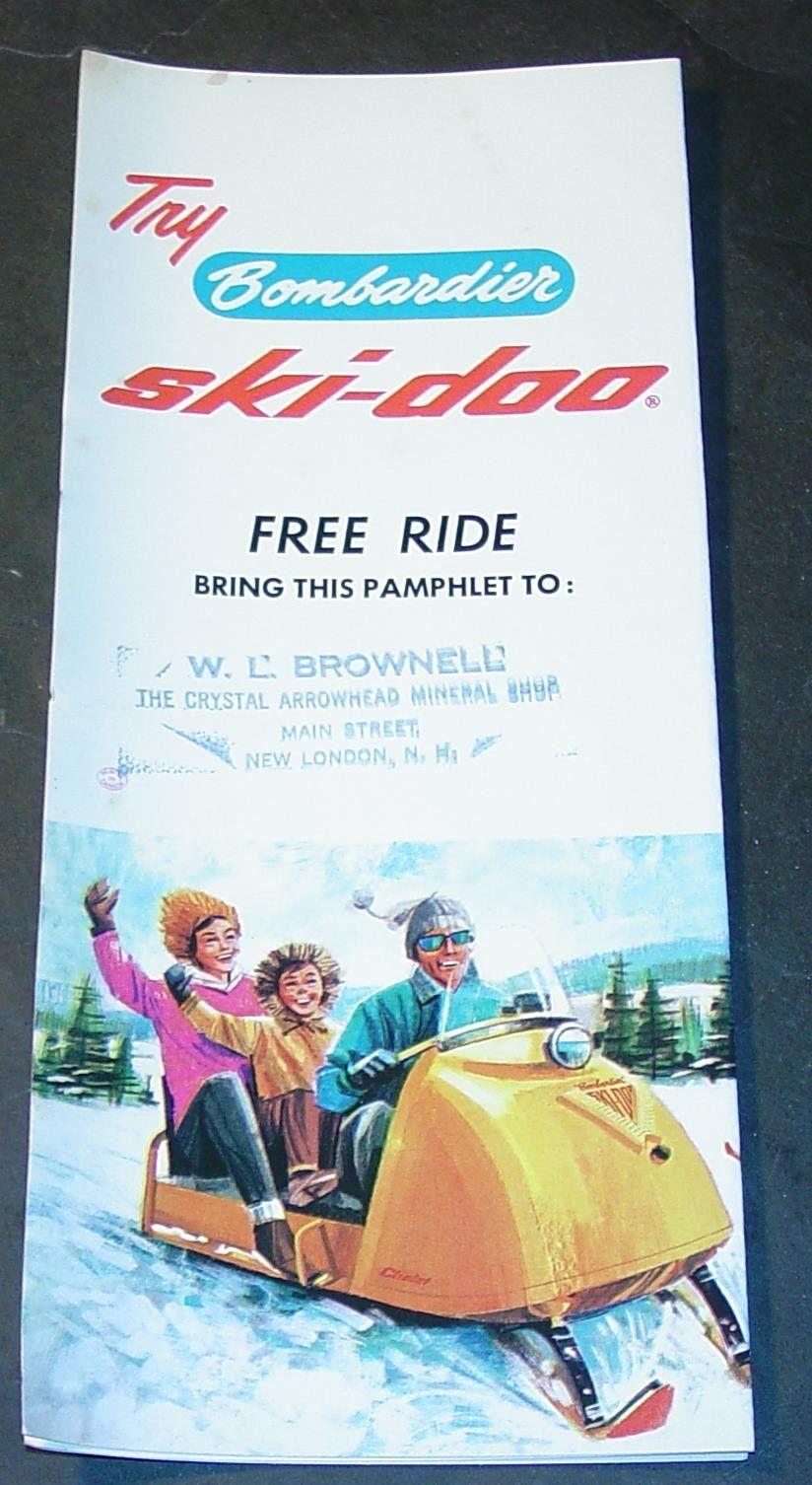 RARE VINTAGE  1965 SKI-DOO SNOWMOBILE TRI-FOLD SALES BROCHURE  (968)  cheapest price
