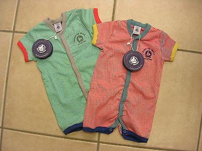 Sommer-Strampler//Overall//Schlafanzug rot oder grün von Petit Bateau NEU!