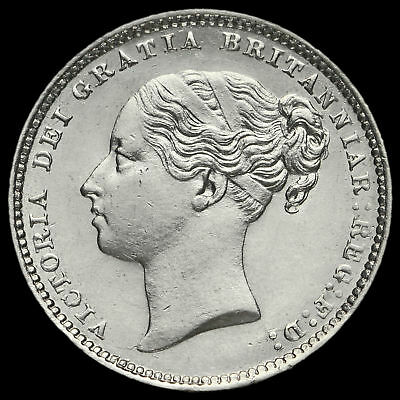 1883 Queen Victoria Young Head Silver Shilling, EF