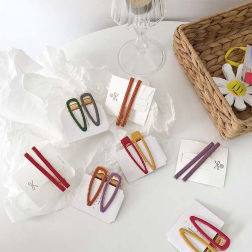 Korea Rectangle Geometric Irregular Hair clips Hairpins Waterdrop Candy Color