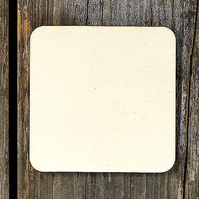 10x en bois Celtic Knot Square Craft Shapes 3 mm contreplaqué Style Un