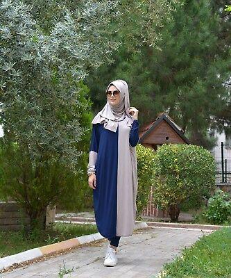 Tunika-Hijab Kleid-langer Oberteil H-5441 Tesettür Tunik