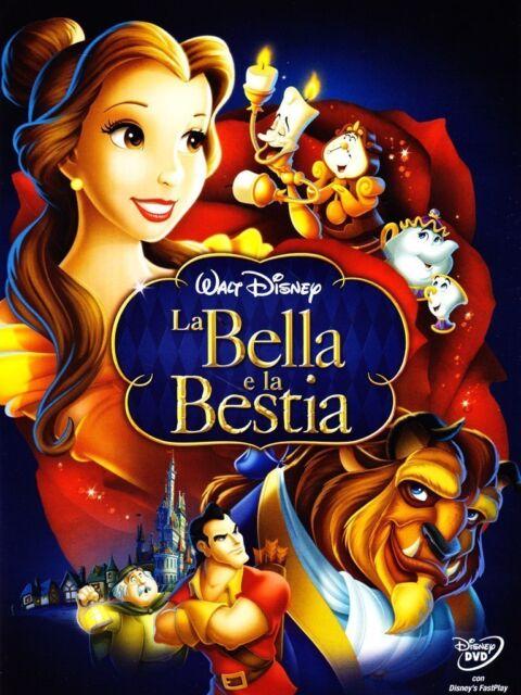 LA BELLA E LA BESTIA DI WALT DISNEY (DVD) NUOVO, ITALIANO, ORIGINALE