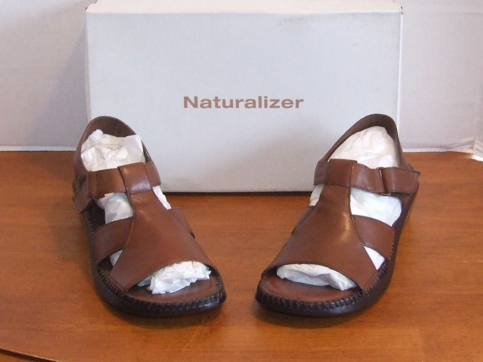 Naturalizer Limit Tan or White Leather Sandals