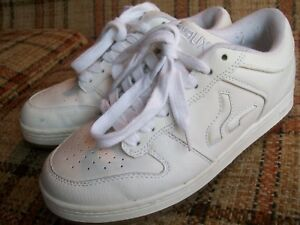a6db1ecaf0 Sneaux Mens Size 7.5 (EUR 40.5) White Leather Skateboard Shoes ...