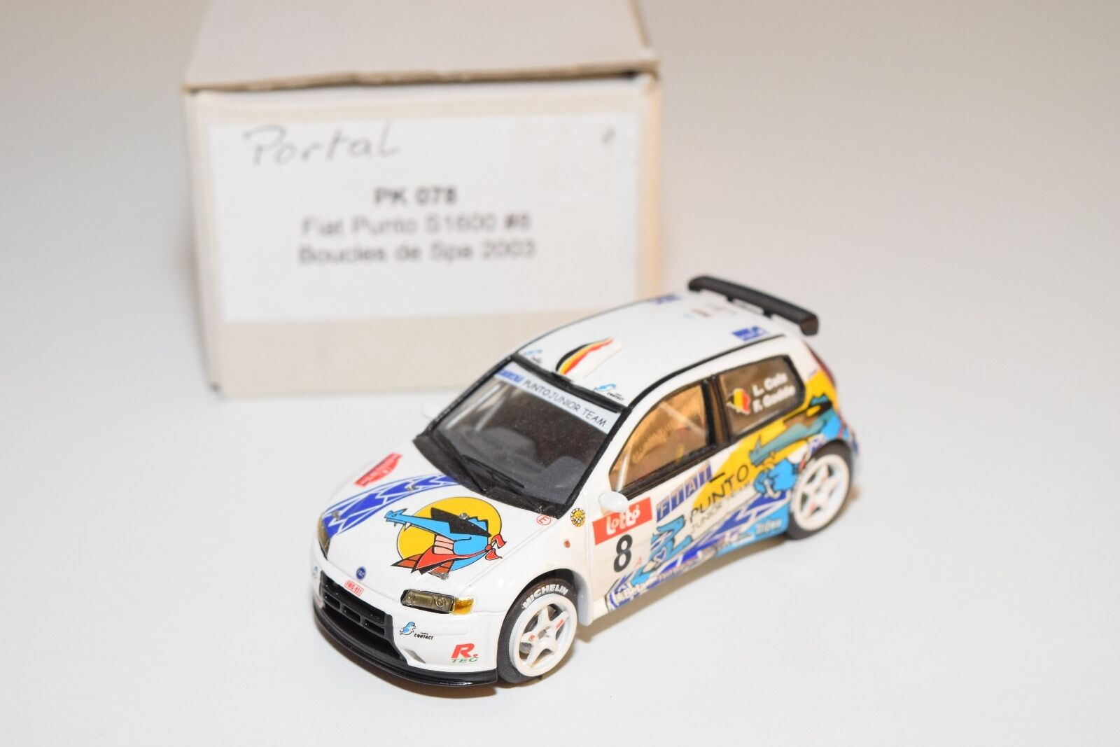 KIT HAND BUILD PK078 FIAT PUNTO S1600 BOUCLES DE SPA 2018 MINT BOXED
