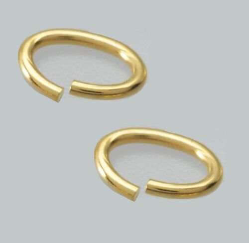 of 10 // SAW-CUT 20 Ga - 4 X 6 MM Gold Filled OVAL Jump Ring Pkg