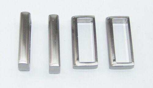 Schlaufen 30 mm silber sat 03.08//851 4 Rechteckringe
