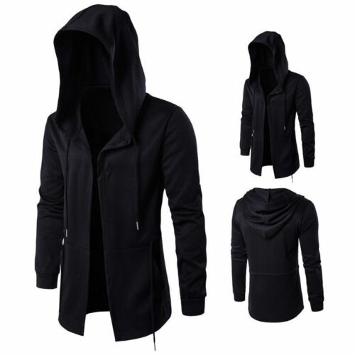 Discount Stylish Men Hoodie Cagoule Jacket Costume Casual Black Cloth Outwear Tops New free shipping