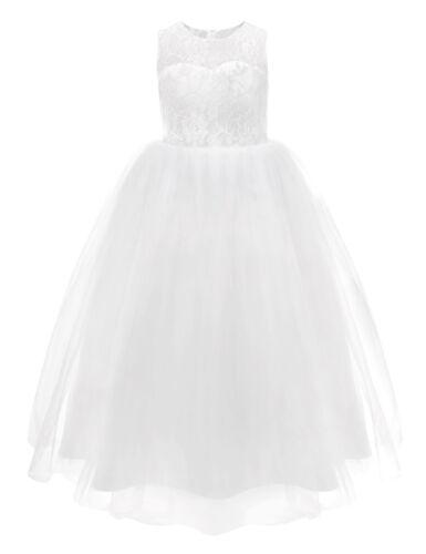 Flower Girl Kid Pageant Communion Formal Party Wedding Bridesmaid Princess Dress