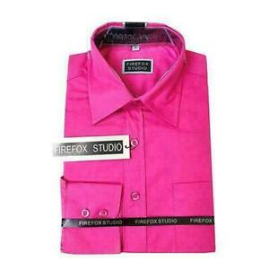 Mens-or-older-boys-pink-long-sleeve-smart-casual-shirt-Size-Small-XS-NEW