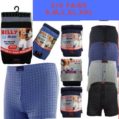 Mens Billy Boxer Shorts Trunks Cotton Stretch M L Xl Xxl Button Fly Grey Blue Im In- Und Ausland FüR Exquisite Verarbeitung, Gekonntes Stricken Und Elegantes Design BerüHmt Zu Sein