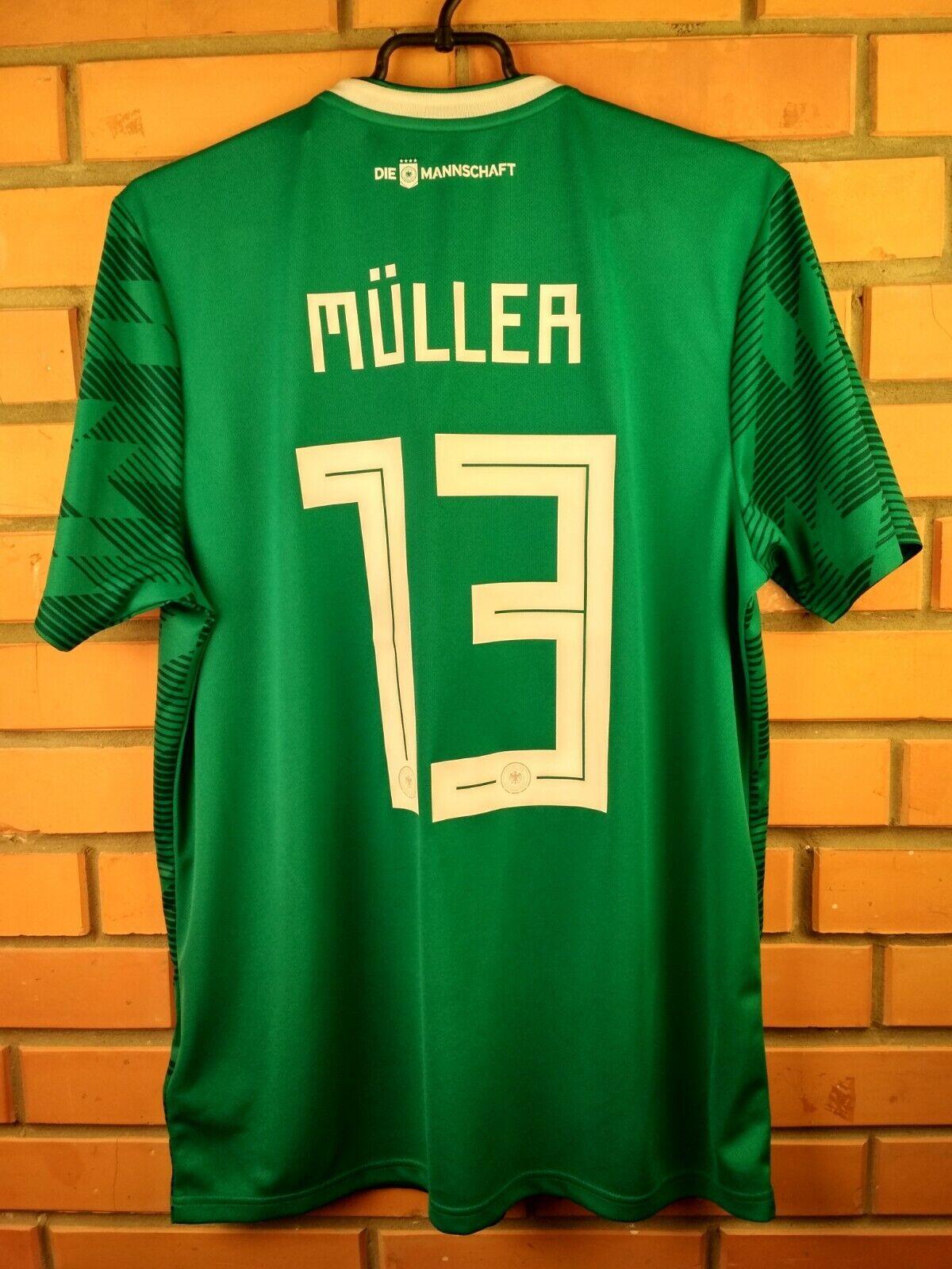 Muller Germany soccer jersey large 2018 away shirt BR3144 football Adidas
