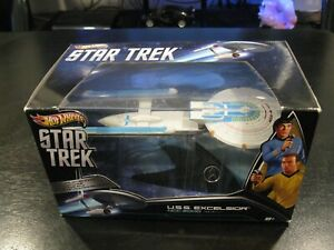 Mattel-Hot-Wheels-Star-Trek-U-S-S-Excelsior-NCC-2000-2009-Move-X3084-Rare-SAVE