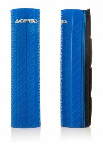 ACERBIS CARBON EFFECT BLUE RUBBER UPPER FORK PROTECTORS HUSQVARNA TC125 2015