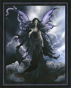 Nene Thomas Fantasy Art Print 8x10 Storm Runes Purple Black Wicca Magic Fairy