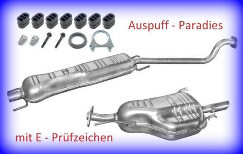 Kit Abgasanlage Auspuff Opel Astra G CC 1.6 /& 1.6 16V Fließheck T98 F48/_F08