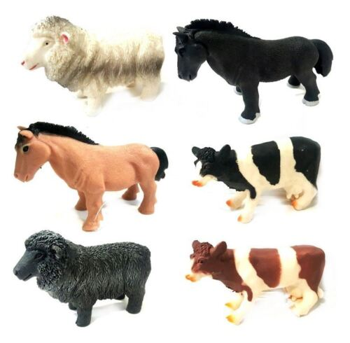 3pc Stretchy Farm Animals Squishy Kids Beany Fidget Sensory Stress Relief Toys