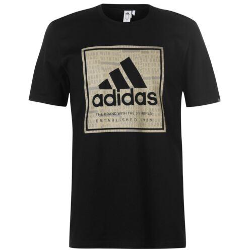 manga de para Qt83 camiseta Adidas algod camisa hombre de con corta logo qx8OOa71