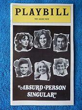 Absurd Person Singular - Music Box Playbill - January 1976 - Sandy Dennis - Page