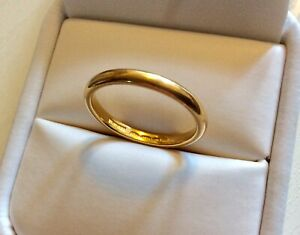 Super-Quality-Vintage-Full-Hallmarked-Solid-22CT-Gold-Wedding-Band-O