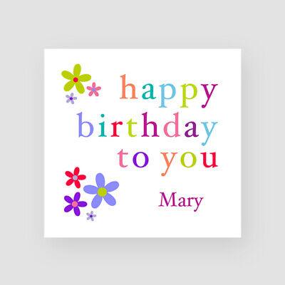 Sister Flowers Personalised Handmade Birthday Card Daughter Mum For Her