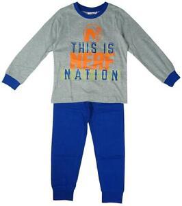 Garcons-Pyjama-c-039-est-Nerf-Nation-Pyjama-Long-Pyjama-Officiel-Enfants-3-To-10-ans